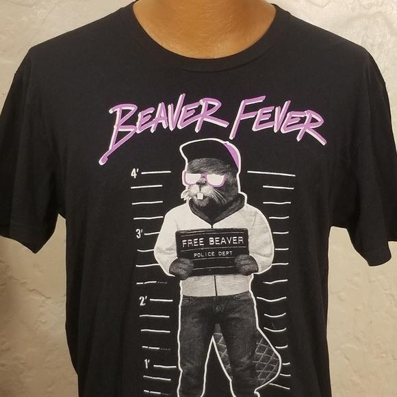 7b149fc2ab Riot Society Free Beaver Fever Mens T-Shirt Size L